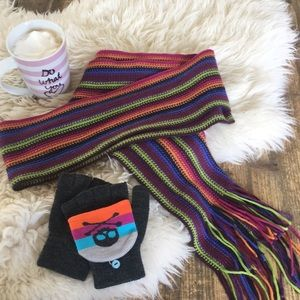 Accessories - NWOT knit scarf and fingerless gloves mittens set